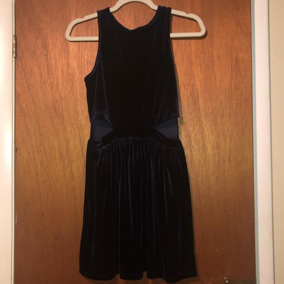 one clothing Dresses & Skirts - Navy velvet mini dress